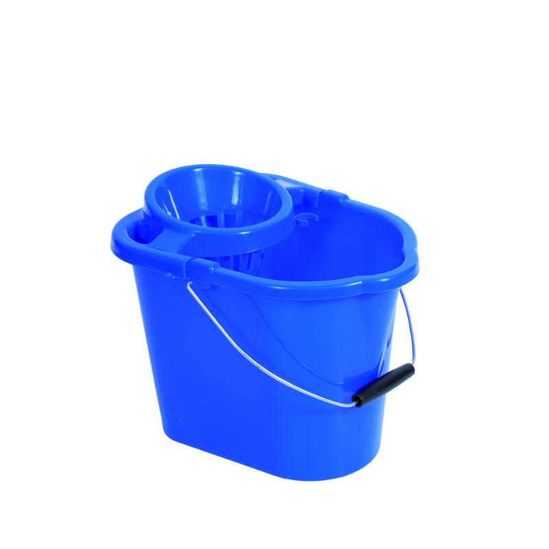 Plastic Strainer Type Mop Bucket Blue Foremost