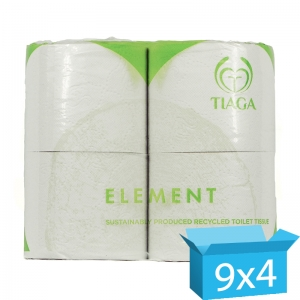 Element 2ply white toilet rolls 320 sheet - Recycled