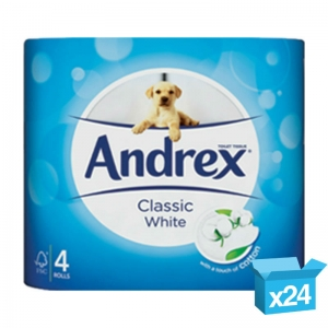 Andrex luxury white toilet rolls