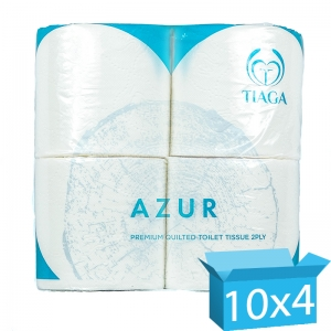 Azur 2ply white Double Quilted luxury toilet rolls 200 sheet