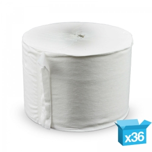 2ply white Compact Coreless toilet rolls