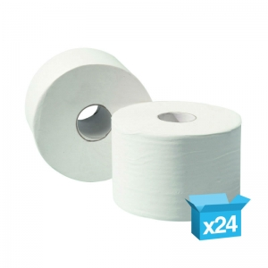2ply white toilet rolls 120m Micro Jumbo recycled