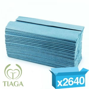 1ply blue c-fold proTowel hand towels