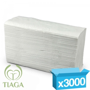 2ply white z-fold Tiaga hand towels
