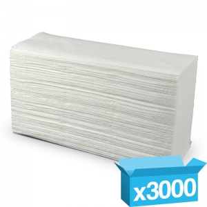 2ply white z-fold hand towels Premium