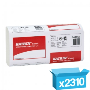 2ply white Katrin Classic z-fold One Stop hand towels 345355