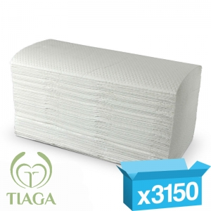 2ply white interfold proTowel hand towels