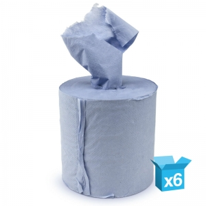 1ply blue centrefeed rolls 20cm x 300m