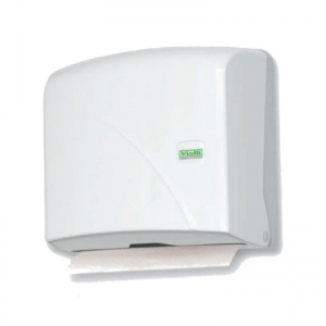 Plain White z-fold hand towel dispenser
