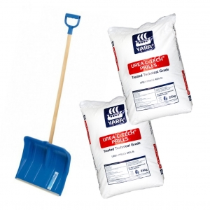 Free professional snow shovel with 2x Miracle Ice-melt