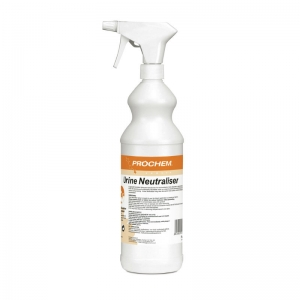 B2353 Prochem Urine Neutraliser 1lt Exclusive Prochem acidic deodorant for neutralising and deodorising urine by direct application.Neutralises odour from urine deposits on contact and prevents staining.Yellow tinted liquid with fresh fragrance.  1lt