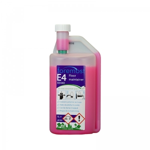 B3440 E4 Eco-Dose Floor Maintainer 1 litre  High quality concentrated spray cleaning concentrate containing polymer and wax to add shine and durability to polished floors. Can be damp mopped and then will respond to burnishing with a soft /medium pad.  safedose, safe dose, safe-dose, concentrate system, v mix, v-mix, vmix, ultra-dose, ultra dose, evolution, chemical dilution system, multidose, accudose, eco-dose, ecodose, eco dose, environmentally friendly chemicals, eco chemicals, green chemicals, V400 1lt