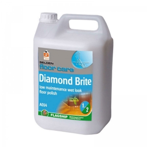 B3502S Selden Diamond brite  Easy to use - no burnishing required. Maximum scuff resistance. Low maintenance requirement. Dries to a wet look gloss. Protects and prolongs the life of flooring materials. Selden, A014, A14, dymagloss, diamond brite, diamond bright, high gloss polish 5lt