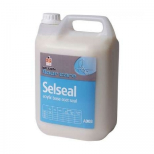 B3509S Selden Selseal  Non-yellowing polymer film. Does not discolour even the lightest floor. Penetrates and seals porous floors, provides an ideal base for emulsion application. Resistant to polish strippers. Selden, A008, A08, Selseal acrylic base coat seal, 5lt