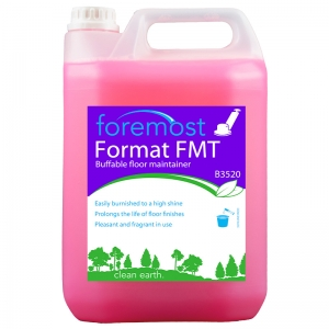 B3520 Format FMT Pink floor maintainer  Highly efficient cleaner. Easily burnished to a high gloss. Prolongs the life of floor finishes. Pleasant and fragrant in use. Selden, B12, B012, Fastlane, Fast lane, dymasheen 5lt