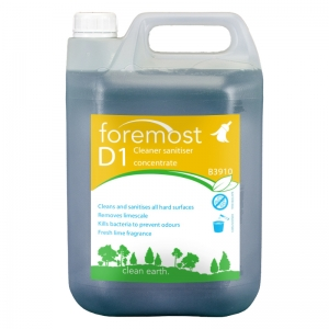 B3910 D1 Lime Washroom Cleaner / Disinfectant 5lt  Cleans and sanitises all surfaces. Removes lime scale. Kills odour producing bacteria. Leaves a fresh fragrant atmosphere. Independently tested to BS6471 QAP50. the one range, the 1 range, washroom disinfectant, E014, E14, Selactive, 5lt