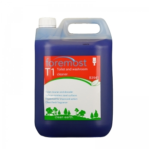 B3941 T1 Toilet Cleaner and Descaler 5lt  Viscous formula clings longer for more thorough action. A concentrated lavatory cleaner which removes limescale and organic deposits. Cleans and descales washroom areas - can be used on all washroom surfaces. the one range, the 1 range, toilet cleaner, loo cleaner, toilet duck, 1lt, toilet descaler, H05, H005, Act, Selden, Act toilet cleaner, HO5 5lt