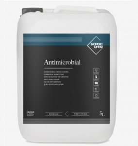 B4850 Nordicchem antimicrobial coating 5 litre Why use an anti microbial coating? Surely nothing replaces the need for regular cleaning? You