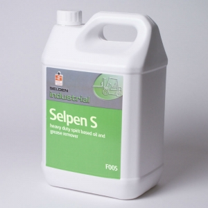 B5025 Selpen S solvent degreaser  Removes wax build-up from floors. Engine and Industrial plant cleaner. Removes tar and bitumen easily. Selden, F005, F05 5lt