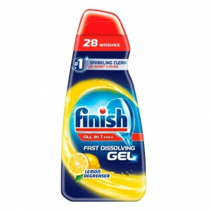Finish All-In-1 Max Fast Dissolving Gel Lemon Degreaser