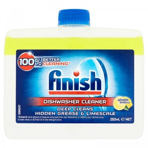 Lemon finish dishwasher cleaner 250ml