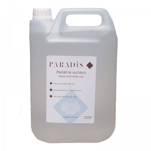 B70365 Paradis thickened alcohol hand sanitising gel - 5lt   5lt