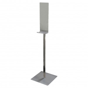 Free standing stainless steel dispenser stand