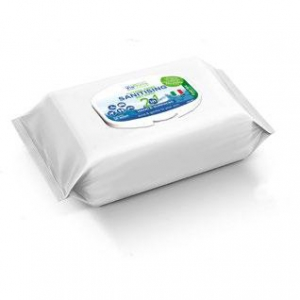 B8202 Viaroma citrus Sanitising wipes - pouch packed 100 sheets Effective sanitising wipePerfect for gyms, changing seating, ideal for desks, keyboards etc