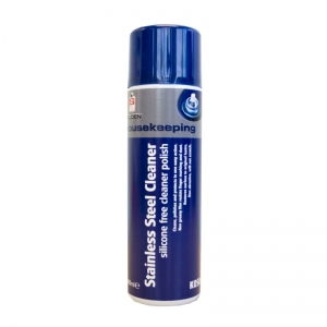 Stainless steel cleaner aerosol