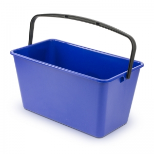 "12 litre rectangular 17"" bucket for window cleaning or sponge floor mops"