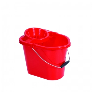 Plastic strainer type mop bucket Red