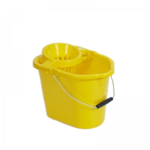 Plastic strainer type mop bucket Yellow