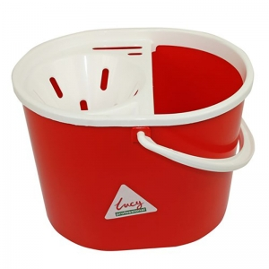 Lucy oval mopstrainer bucket Red