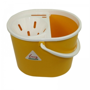 Lucy oval mopstrainer bucket Yellow