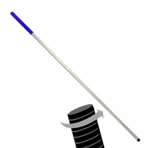 Twister Aluminium threaded hygiene mop handle Blue 54""