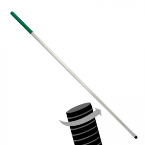 Twister Aluminium threaded hygiene mop handle Green 54""