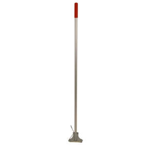 Kentucky aluminium mop handle with steel clip, red grip