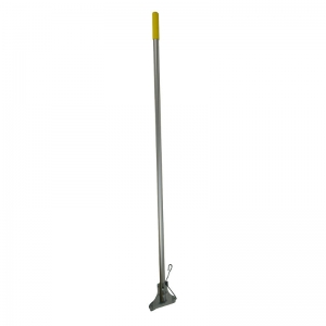 Kentucky aluminium mop handle with steel clip, yellow grip