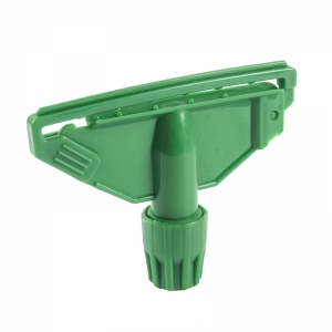 Green Clip for Kentucky mop handle fully c-coded plastic