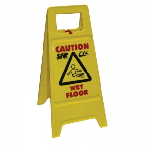 Anti-collapse wet floor sign