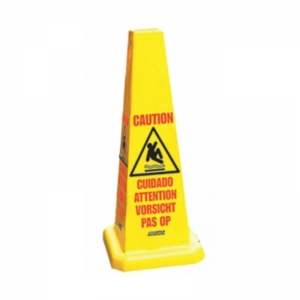 "Yellow square safety cone 21"" high"
