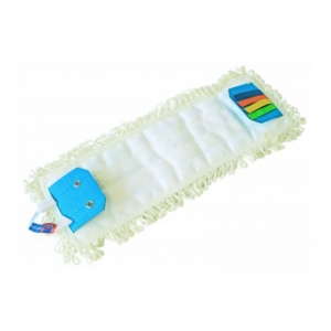 Microfibre flat mop with flaps & colour tags, use with D3451