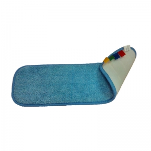 Microfibre velcro-backed flat mopping head 40cm