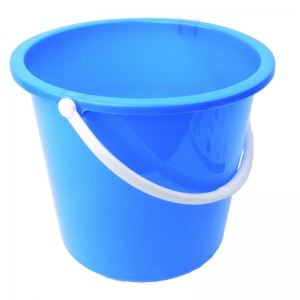 2 gallon plastic bucket round blue