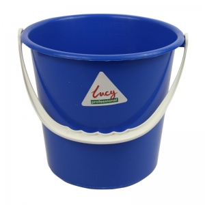 Lucy 2 gallon plastic bucket Blue