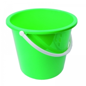 2 gallon plastic bucket round green