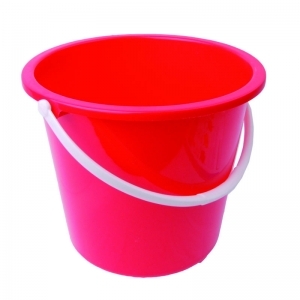 2 gallon plastic bucket round red