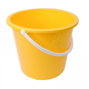 2 gallon plastic bucket round yellow