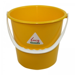Lucy 2 gallon plastic bucket Yellow