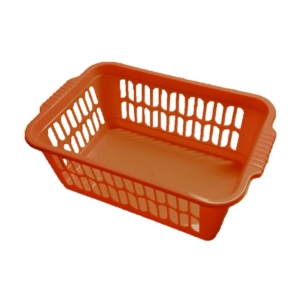 Red plastic basket 30x20x11cm